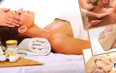 Antistresová masáž hlavy a šije, anticelulitidovou masáž, regenerační masáž zad a masáž dolních končetin s reflexologii plosky, vybírejte z několika variant masáží a užijte si 45 min. relaxu v krásném salonu Penelope v Liberci.