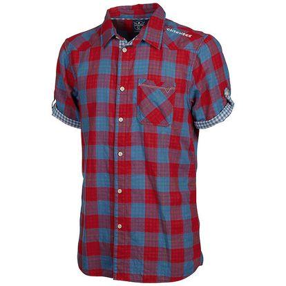 Pánská modro-červená kostkovaná košile Chiemsee