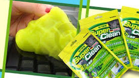 Kouzelná čistící hmota Super Clean, která na sebe přilepí všechnu špínu, se stane Vašim nezbytným pomocníkem při úklidu