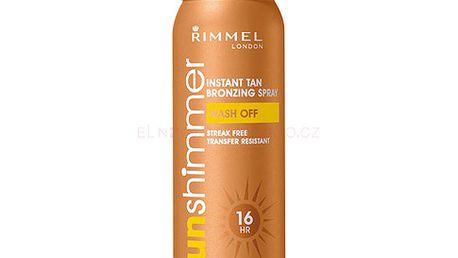 Rimmel London Sun Shimmer Bronzing Spray 100ml Samoopalovací přípravek W - Odstín Golden