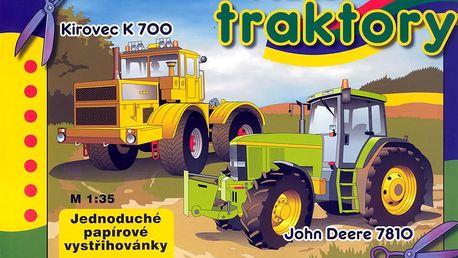 Těžké traktory - vystřihovánky