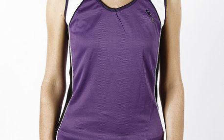 Dámské fialové funkční tričko bez rukávů Authority