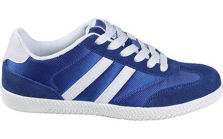 Pánské sytě modré textilní tenisky Authority