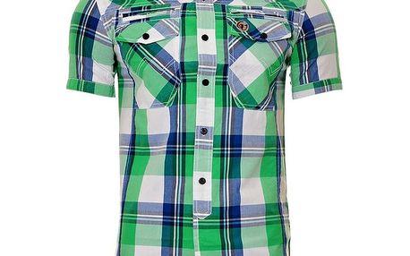 Pánská modro-zelená kostkovaná košile SixValves