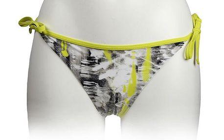 Dámské šedo-žluté plavkové kalhotky Authority