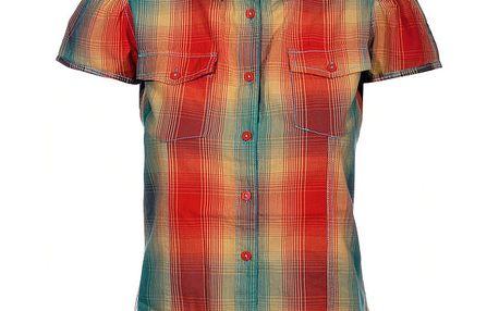 Dámská červeno-žlutá kostkovaná košile Mambo
