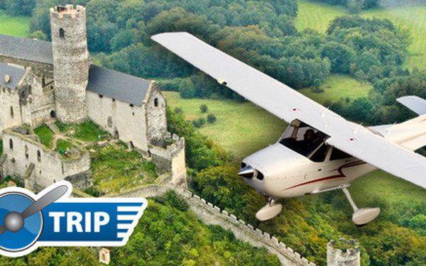 Vyhlídkové lety nad Prahou a Čechami (20, 40 i 60 min)