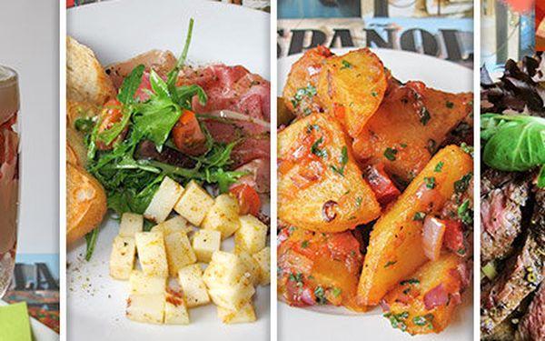 Letní menu pro dva ve španělském duchu