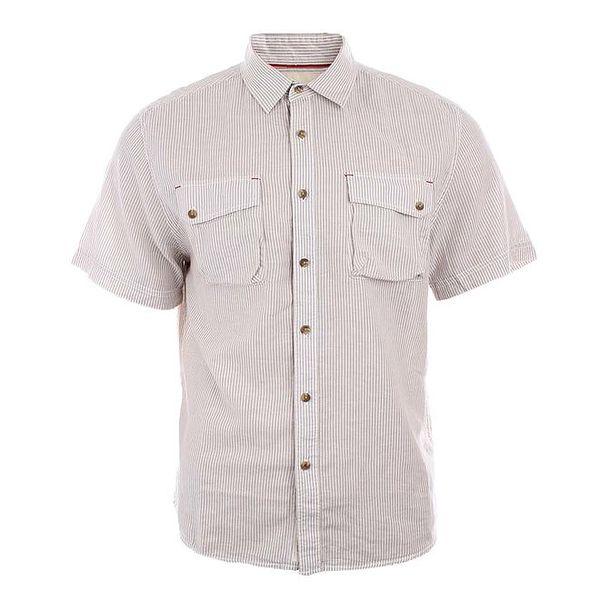 Pánská světle pruhovaná košile s krátkými rukávy Timeout