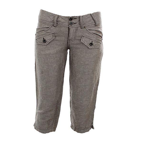 Dámské šedo-béžové capri kalhoty Timeout