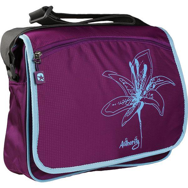 Fialová unisex taška s potiskem květiny Authority