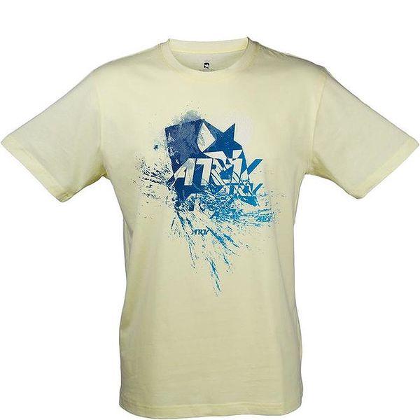 Pánské světle žluté tričko s modrým potiskem Authority