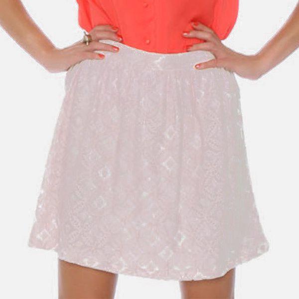 Dámská perforovaná smetanová sukně Pepa Loves