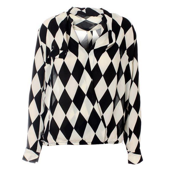 Dámská černo-bílá károvaná košile Kzell