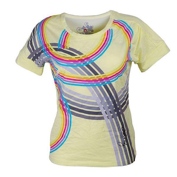 Dámské žluté tričko s barevnými pruhy Authority