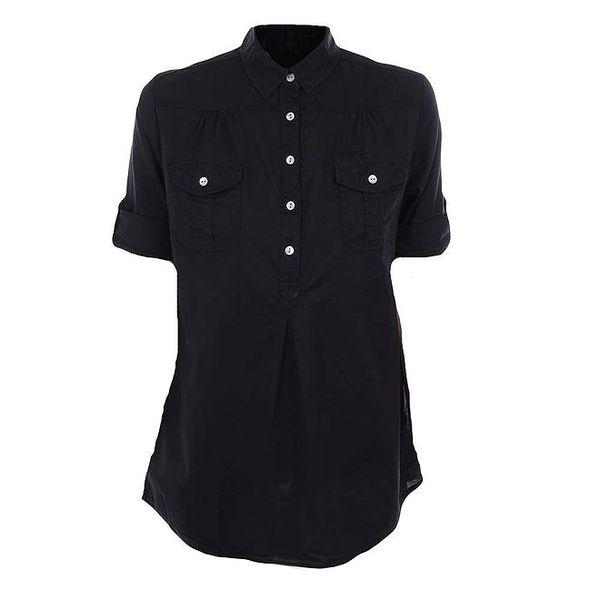 Dámská černá košile s krátkým rukávem Timeout