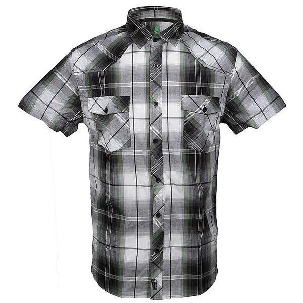 Pánská kostkovaná košile se zeleným proužkem Authority