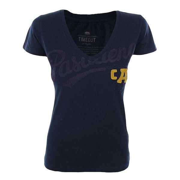 Dámské tmavě modré tričko se žlutým detailem Timeout