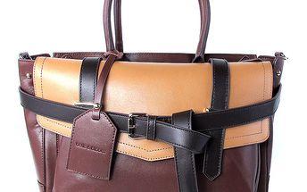 Dámská hnědá kabelka s vyjímatelnou vnitřní taštičkou Belle & Bloom