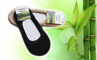 Osm párů ponožek do balerínek s bambusovým vláknem. Ideální díky vysoké absorbci potu a zápachu na letní dny.