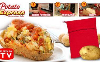 Neuvěříte, dokud nezkusíte! Horká novinka- Potato Express Vám vykouzlí perfektně připravenou bramboru za pár minutek v mikrovlnné troubě!