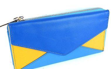 Dámská modrožlutá peněženka Belle & Bloom