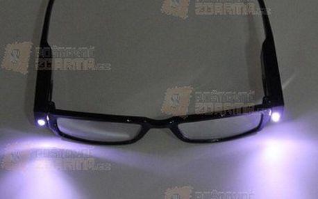 Dioptrické brýle na čtení s LED osvětlením a poštovné ZDARMA! - 16610402