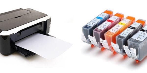 5 ks kompatibilních náplní PGI-525, CLI-526CMYK XL pro tiskárny Canon