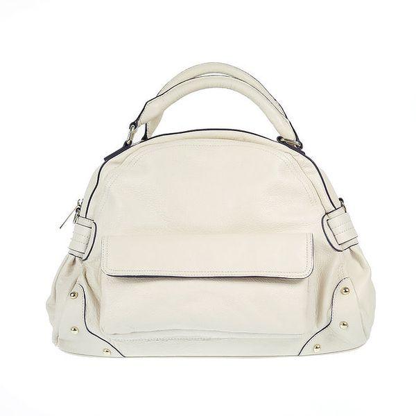 Dámská kožená kabelka s vnějšími kapsami Belle & Bloom