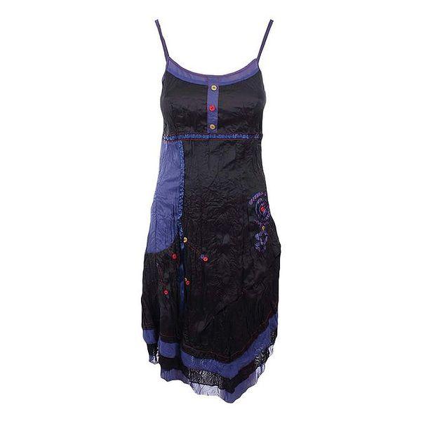 Dámské modro-černé šaty Dislay DY Design