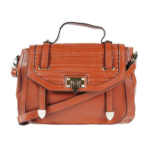 Dámská kožená kabelka v hnědé barvě Belle & Bloom