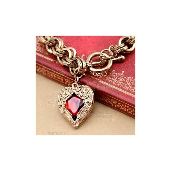 Vintage náramek na ruku se srdcem a poštovné ZDARMA! - 15910451