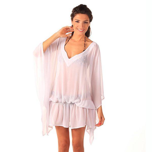 Dámské bílé transparentní šaty Caniche