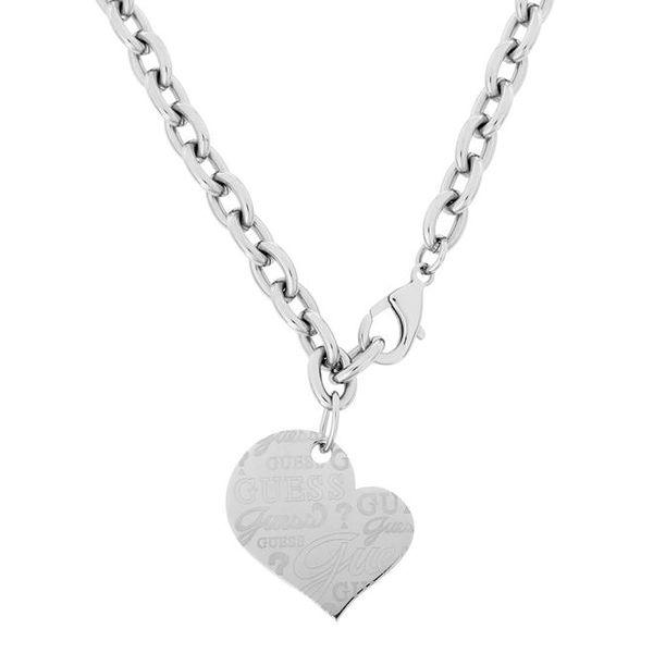 Dámský náhrdelník se srdcovým přívěskem Guess
