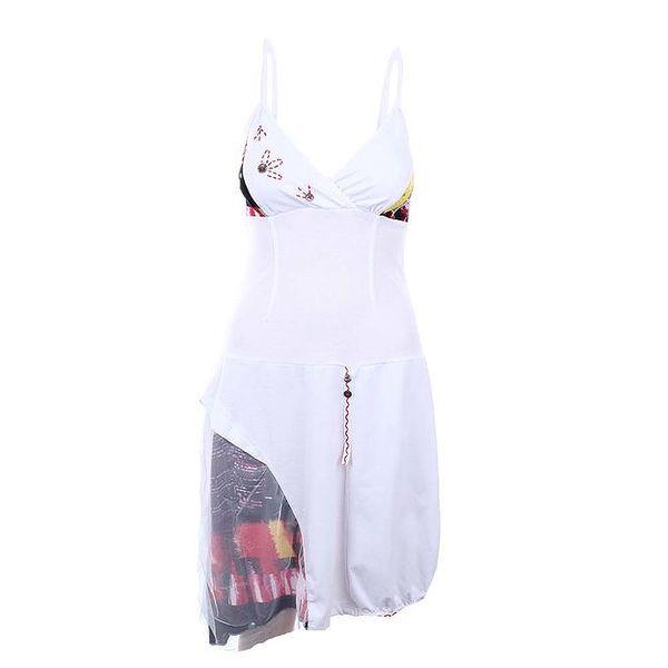 Dámské bílé šaty na špagetových ramínkách Dislay DY Design