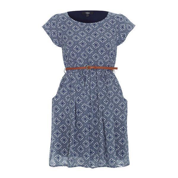 Dámské retro modré šaty Iska