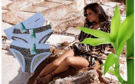 Set tří pohodlných dámských kalhotek v moderním vzhledu za báječnou cenu. Dopřejte si maximální možný komfort, který nabízí spodní prádlo z bambusu.
