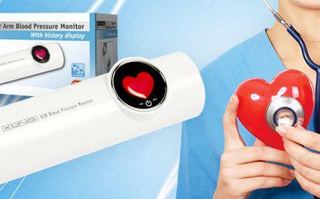 USB měřič krevního tlaku a pulzu od König Electronic