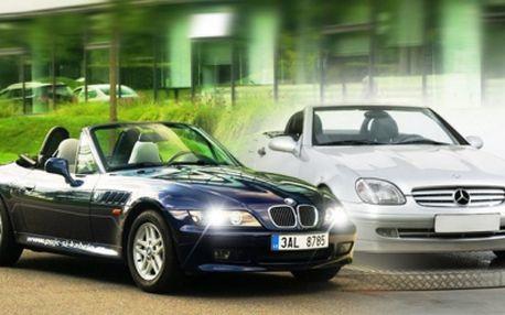 ZAPŮJČENÍ KABRIOLETU BMW Z3 Roadster nebo Mercedes Benz SLK se slevou 30%! Užijte si celodenní projížďku, nebo vyražte za dobrodružstvím na celý víkend! Tito krasavci Vás uchvátí! Udějejte si radost! Ceny již od 1680 Kč!