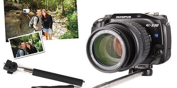 Teleskopický držák na mobilní telefon, fotoaparát či kameru GoPro