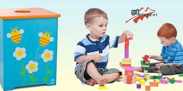 Výprodej! Dřevěná úložná krabice na hračky