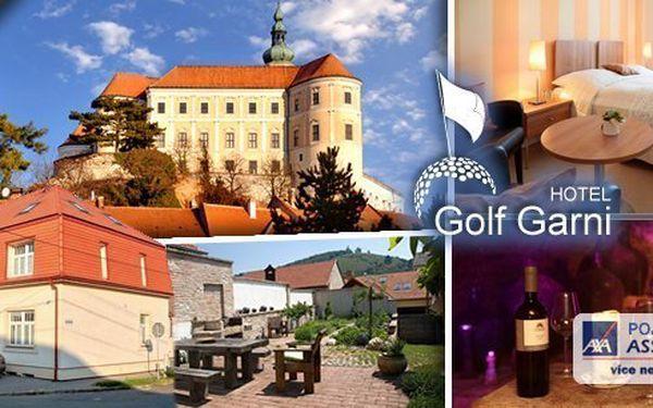 Navštivte Hotelu Golf Garni*** v Mikulově - 3denní pobyt pro 2 osobyse snídaněmi, slevou do Aqualandu Moravia a do restaurace. Ideální dovolená pro relaxaci, krásné procházky či cykloturistku!