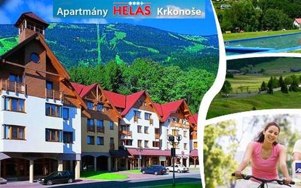 Léto v Krkonoších – týdenní pobyt pro až 4 osoby v luxusních 3*+ apartmánech blízko lanovky, která vyveze vás i vaše kola na hřebeny hor. Prožijte srodinou či přáteli velmi levnou a přitom fantastickou dovolenou na horách vRokytnici nad Jizerou!