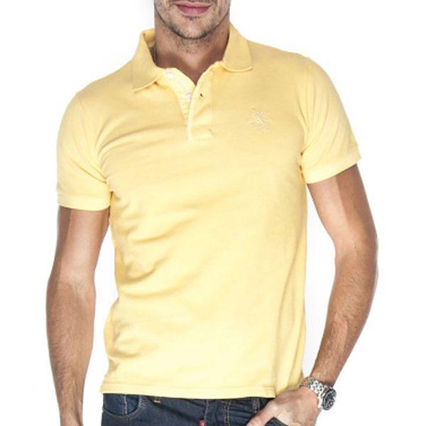 Pánské pastelově žluté polo tričko Giorgio Di Mare