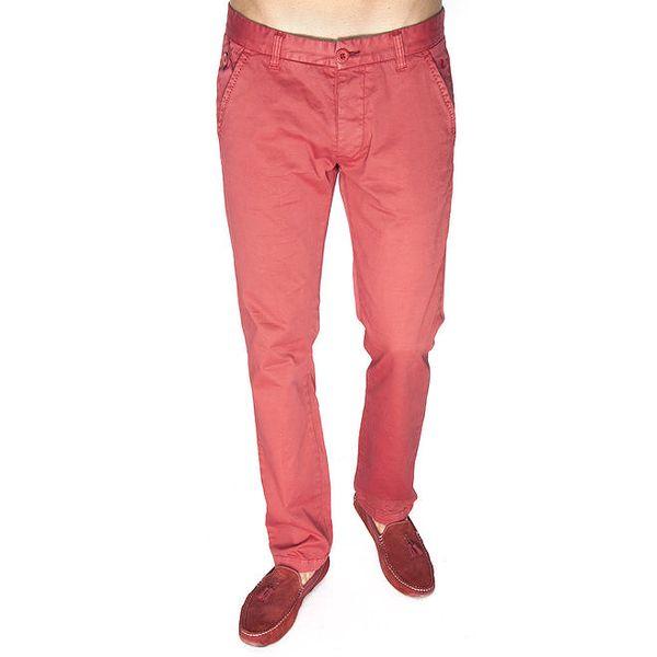 Pánské světle červené kalhoty Giorgio di Mare