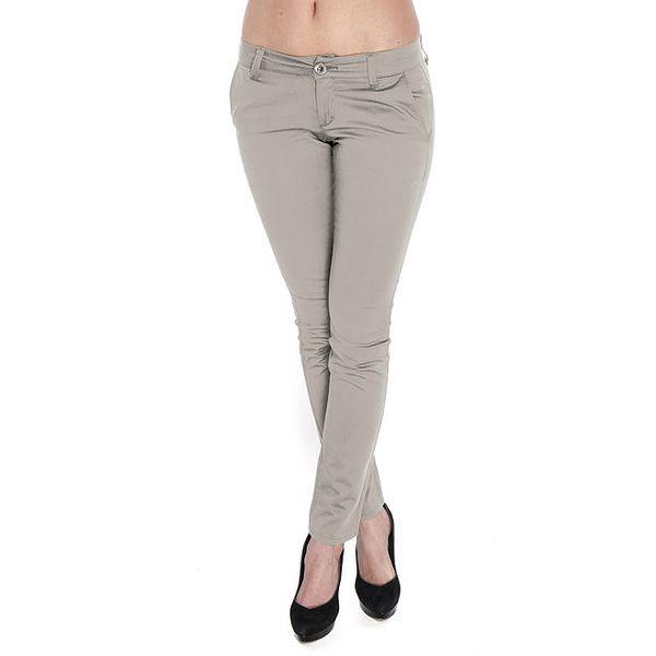 Dámské tmavě béžové kalhoty Giorgio di Mare