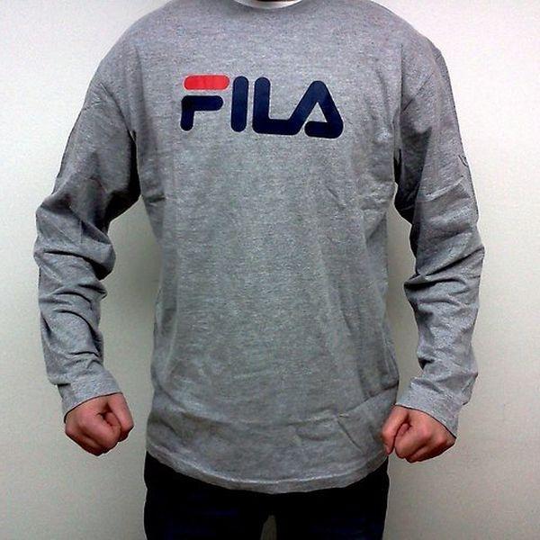 Sportovní triko Fila pro muže (Fila pánské tričko šedé, velikost XL)