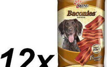 Akinu BACONIES slaninky pro psy 12 x 85g
