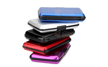 Stylové aluminiové pouzdro na vizitky a platební karty - na výběr z 5 barev, vodotěsné a poštovné ZDARMA! - 16201237