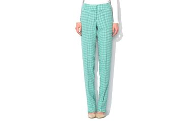 Dámské zeleno-bílé kalhoty Roccobarocco